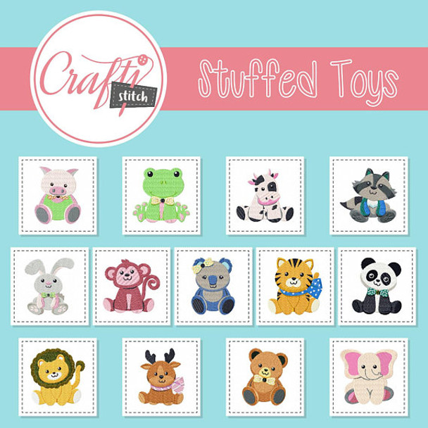 Stuffed Toys Collection of 13 Machine Embroidery Designs