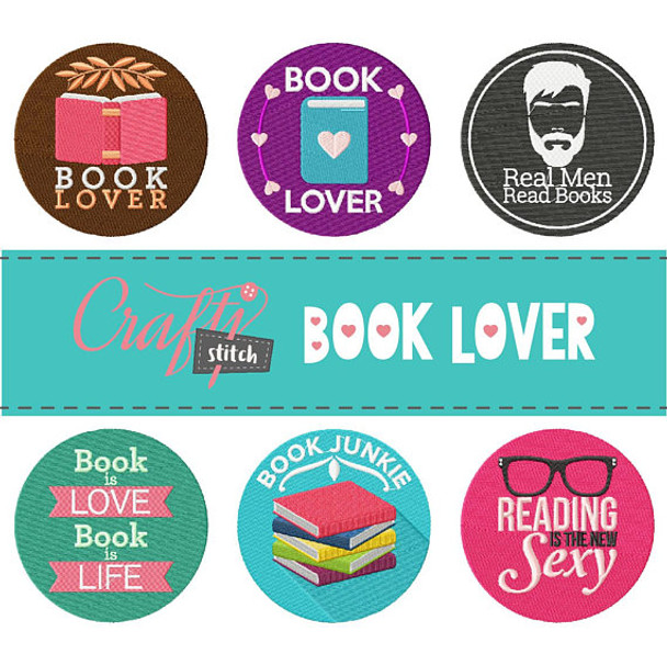 Book Lover Collection 6 Machine Embroidery Designs