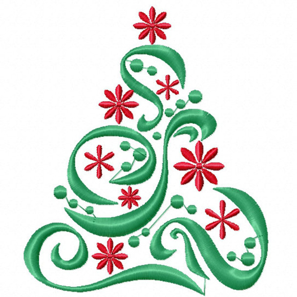Christmas Tree #01 Machine Embroidery Design