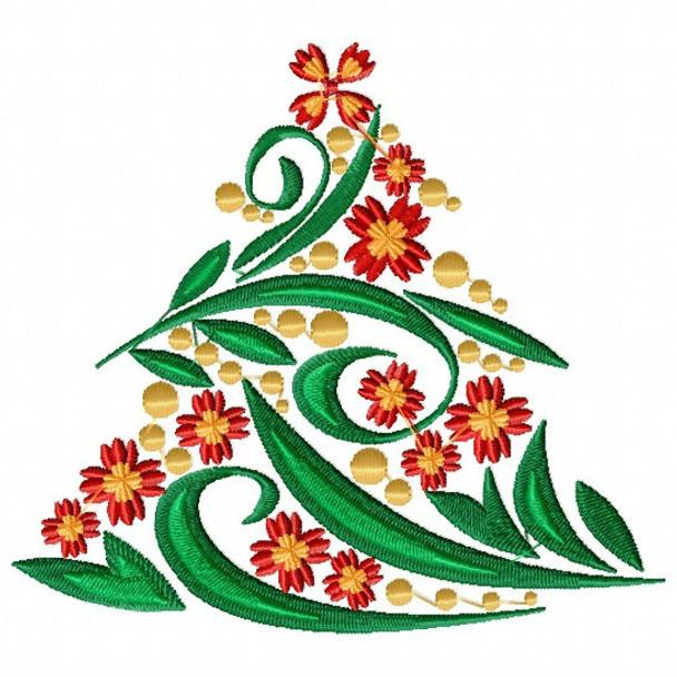 Christmas Tree #06 Machine Embroidery Design