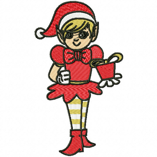 Lady Elf Funny Elves 08 Machine Embroidery Design
