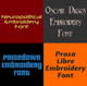 Machine Embroidery Fonts - 20 DST Font Bundle - Volume 5