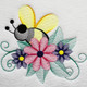 Machine Embroidery Designs - Bees And Flowers Collection of 6
