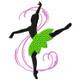 Silhouette Ballet Dancers #04
