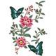 Flower Garden And Butterflies #01