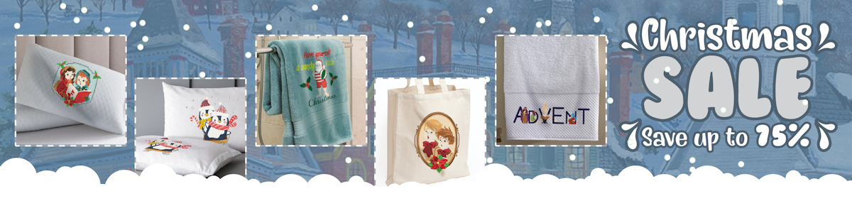 Christmas Machine Embroidery Sale - Save 75%!