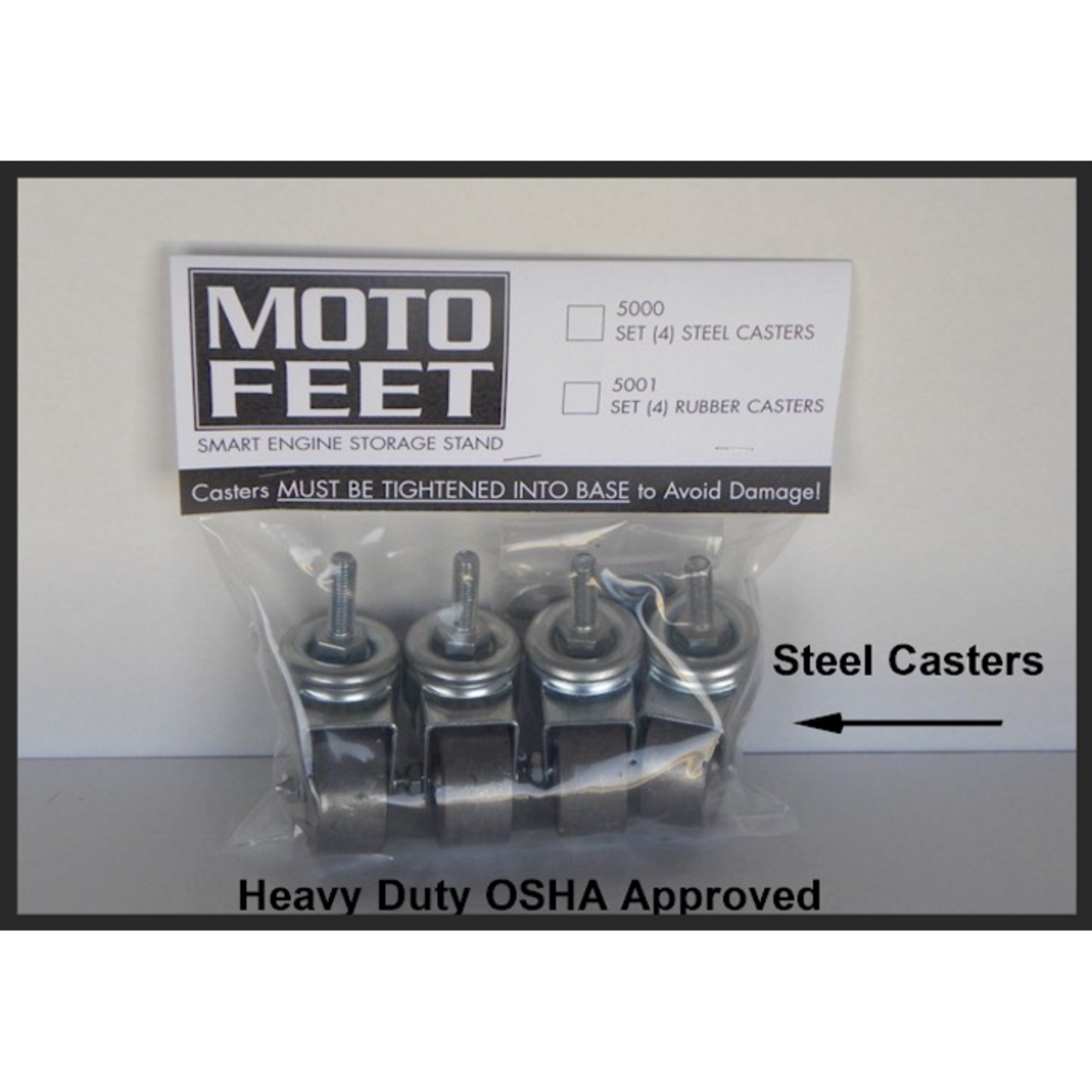 MOTOFEET Engine Stand Steel Casters
