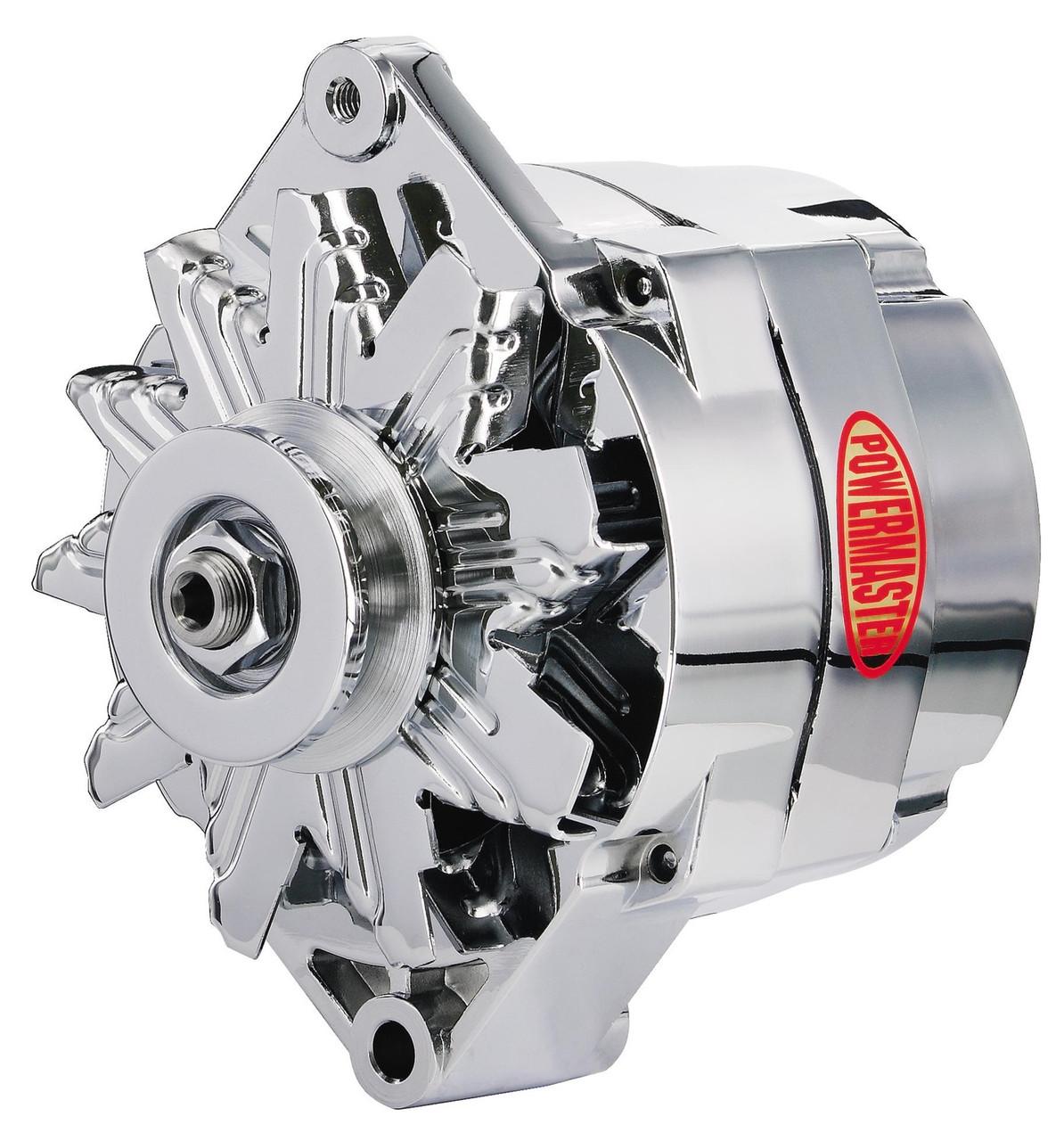 powermaster gm 1-wire 100 amp alternator, chrome - so-cal speed shop az  so-cal speed shop az