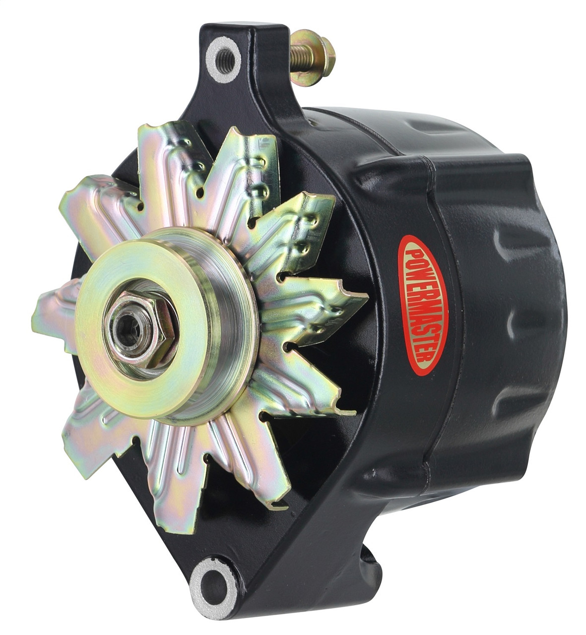 powermaster ford 1-wire 100 amp upgrade alternator, black - so-cal speed  shop az