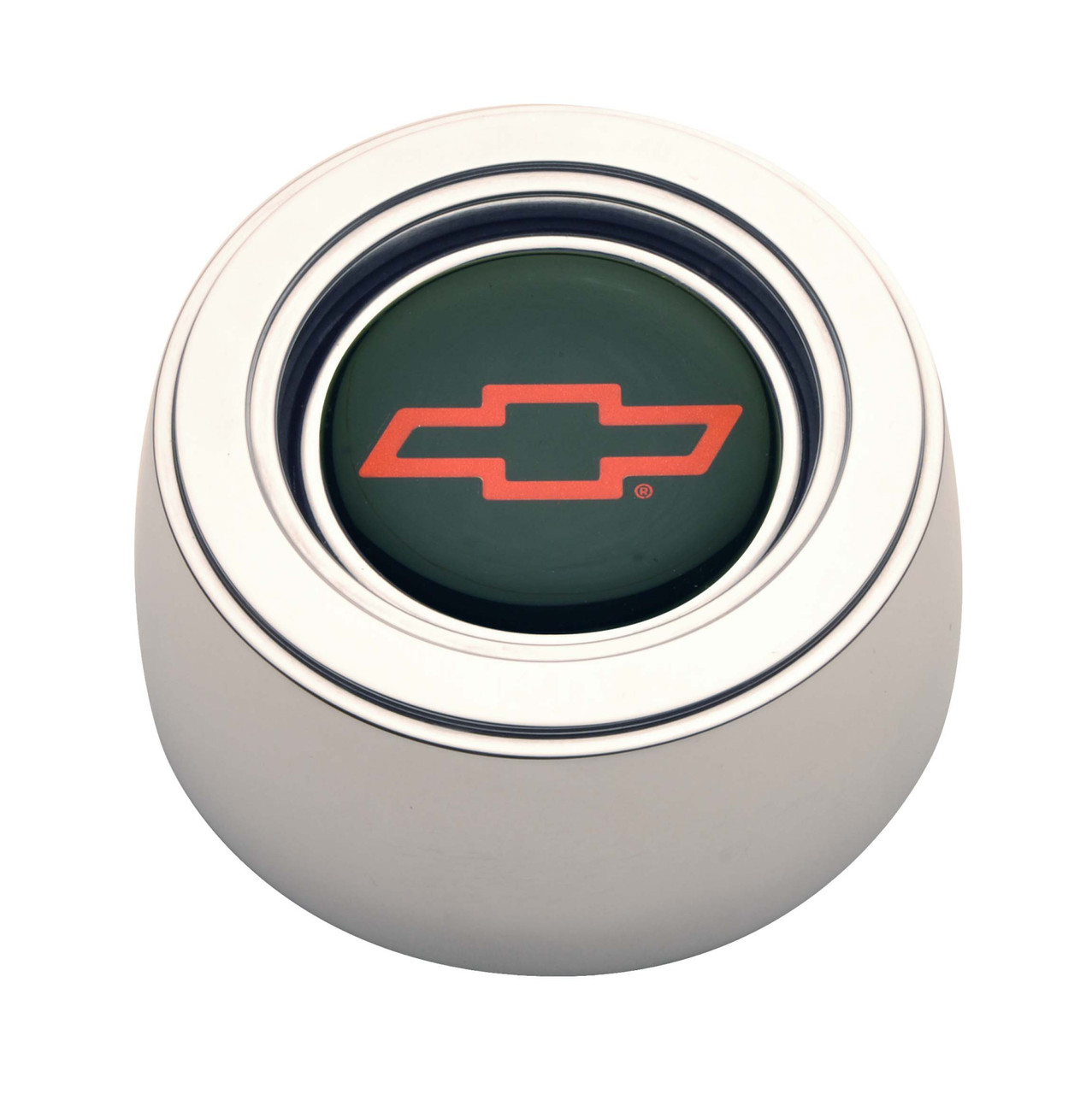 GT Performance GT3 Hi-Rise Chevy Bowtie Colored Horn Button, Polished