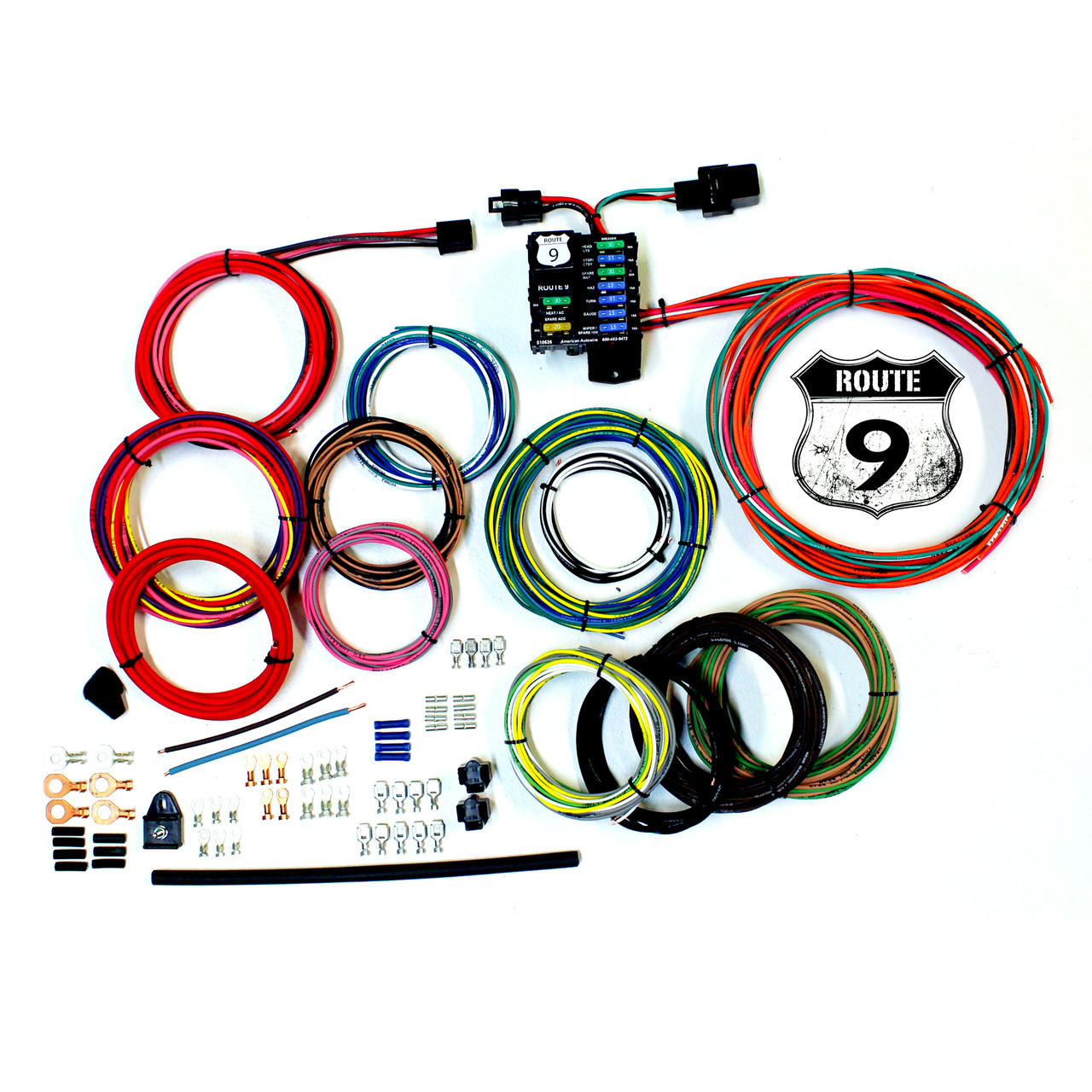 american autowire route 9 universal wiring kit so cal speed shop azamerican autowire route 9 universal wiring kit (ame 510625)