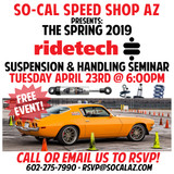 2019 Ridetech Suspension & Handling Seminar at SO-CAL Speed Shop AZ