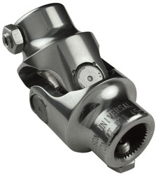 Borgeson 3/4-36 X 3/4 DD Steering U-Joint, Polished Stainless Steel