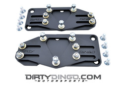 Dirty Dingo Slider SBC or BBC to LS Conversion Engine Mounts, Black