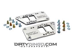 Dirty Dingo Double-D Billet 3/8 LS Adapter Plates, Aluminum