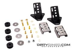 Dirty Dingo GM 3 Bolt Street Rod Engine Mounts, Black