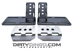 Dirty Dingo LS Street Rod Complete Adjustable Engine Mounts, Black