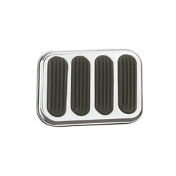 Lokar Brake/Clutch Steel Pedal Pad, Chrome