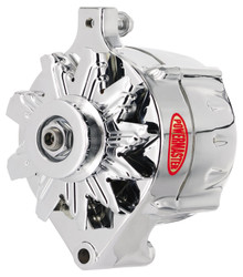 Powermaster Ford 1-Wire 100 Amp Upgrade Alternator, Chrome