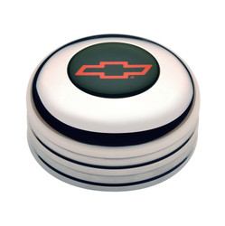 GT Performance GT3 Standard Chevy Bowtie Colored Horn Button, Polished