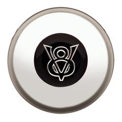 GT Performance Gasser/Euro V8 Emblem Colored Horn Button, Polished