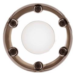 GT Performance Gasser/Euro 6-Hole Plain Horn Button, Polished