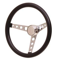 GT Performance GT3 Classic Hole Spokes Foam Wheel, Black w/ Chrome Spokes