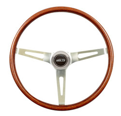 GT Performance GT3 Classic Slot Spokes Wood Wheel, Wood w/ Chrome Spokes