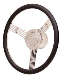 GT Performance GT9 Retro Banjo Steering Wheel, Black Leather