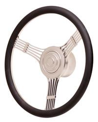 GT Performance GT9 Retro Banjo Steering Wheel, Black Leather