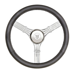 GT Performance GT3 Retro Gasser Banjo Style Wheel, Black Leather