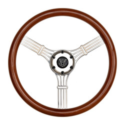 GT Performance GT3 Retro Gasser Banjo Style Wheel, Wood