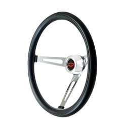 GT Performance GT3 Classic Slot Spokes Foam Wheel, Black w/ Chrome Spokes