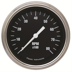 Classsic Instruments Hot Rod Series Tachometer 3-3/8""