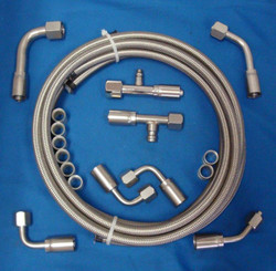 Braided A/C Hose Kit, Straight, Stainless Steel