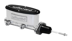 "Wilwood 15/16"" Aluminum Tandem Master Cylinder w/ Pushrod, Ball Burnished"