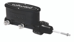 "Wilwood 15/16"" Aluminum Tandem Master Cylinder w/Pushrod, Black"
