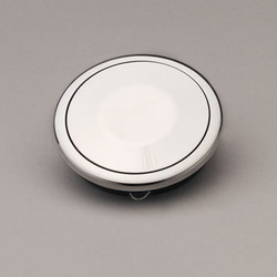 Lecarra Horn Button, Aluminum Covered