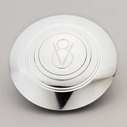 Lecarra V8 Logo Horn Button, Billet Aluminum