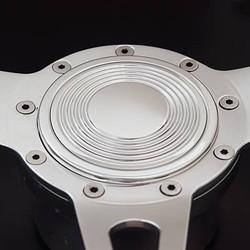 Lecarra Groovy Horn Button, Billet Aluminum