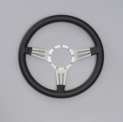 Lecarra Mark 4 Double Slot Steering Wheel, Black