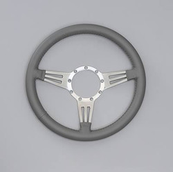 Lecarra Mark 4 Double Slot Steering Wheel, Light Gray