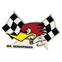 Clay Smith Cams Mr. Horsepower with Flags Decal