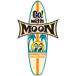 Mooneyes Go! With Moon Surfboard Decal