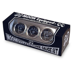 Mooneyes Equipped 3 Gauge Set