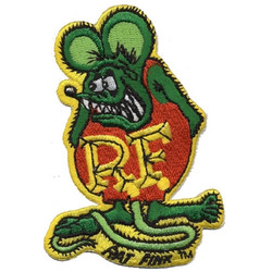 "Mooneyes Rat Fink 3-3/4"" Patch, Green"