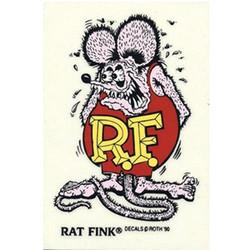 Mooneyes Small Rat Fink Standing Decal, Purple