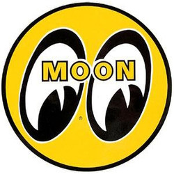 "Mooneyes Eyeball Logo 8"" Decal, Yellow"