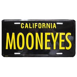 Mooneyes California License Plate, Black & Yellow