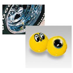 Mooneyes Yellow Moon Air Valve Caps